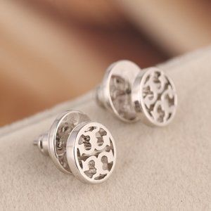 Tory Burch Silver Round Earrings